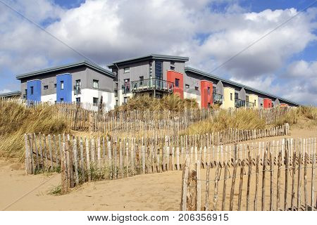 Beachside apartment building in the popular SA1 district at Swansea Marina with fabulous views of the beach