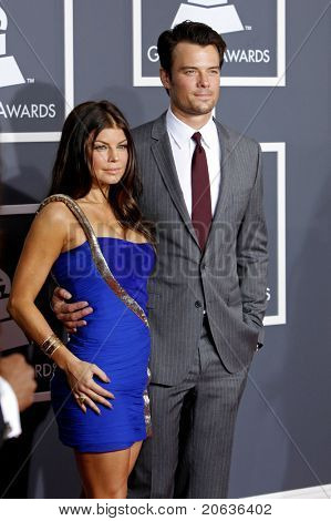 LOS ANGELES - JAN 31:  Fergie aka Stacy Ferguson and Josh Duhamel arriving at the 52nd Annual GRAMMY Awards held at Staples Center in Los Angeles, California on January 31, 2010.