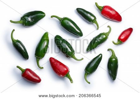Jalapeno Chile Peppers, Paths, Top View