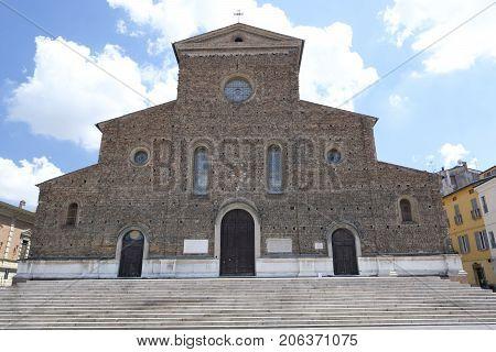 Faenza (Forli Cesena Emilia Romagna Italy): exterior of historic buildings: cathedral facade
