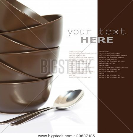 Stack Of Bowls And Spoons