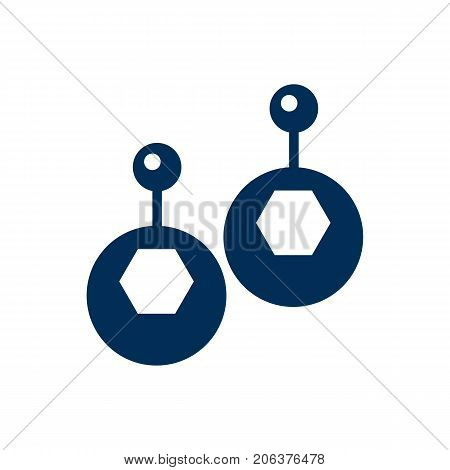 Vector Eardrop Element In Trendy Style.  Isolated Earring Icon Symbol On Clean Background.
