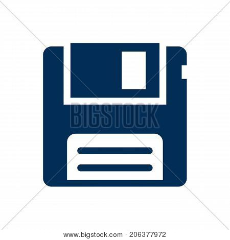 Vector Diskette Element In Trendy Style.  Isolated Floppy Icon Symbol On Clean Background.