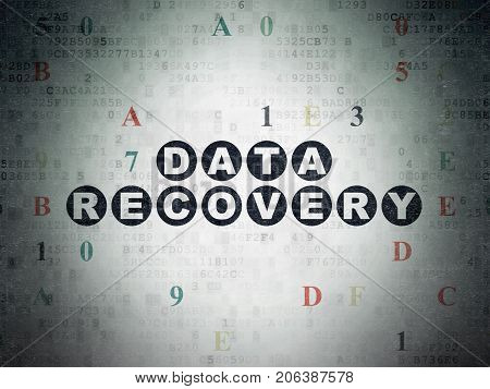 Data concept: Painted black text Data Recovery on Digital Data Paper background with Hexadecimal Code