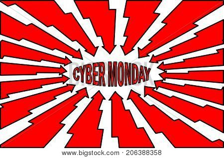 Cyber Monday sale background , Abstract lightning vector - Cyber Monday - background