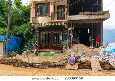 Construction Of A Hotel In Sapa Town