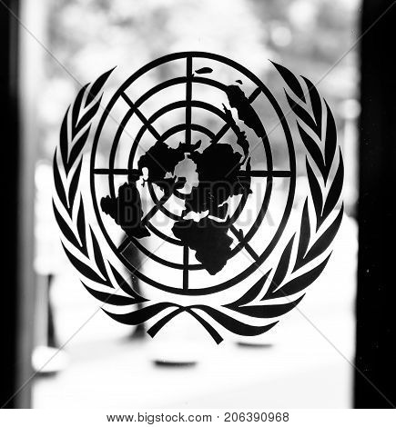 The Emblem Of The United Nations Organizations