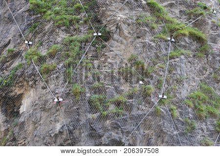 Steel Net For Protection Against Rock Slide