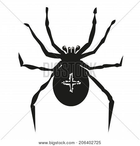 Spider illustration garden-spider kind spiders. Vector spider arachnid animal insect scary fear horror. Holiday danger bug halloween creepy spooky phobia poison dangerous spiders tarantula spider web.