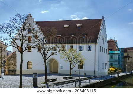 Building of castle in Amberg Bavaria Germany