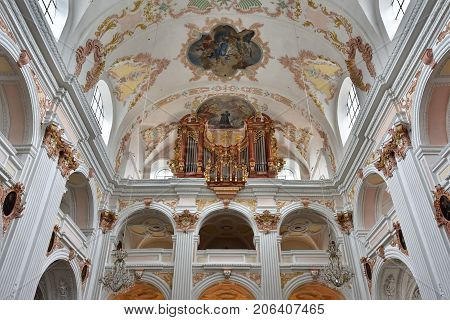 St. Leodegar Cathedral In Lucerne, Switzerland