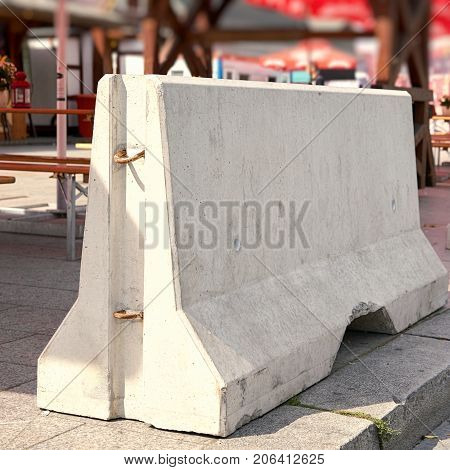 Barriers of  Concrete for counter terrorism at Breitscheidplatz in Berlin
