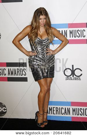 LOS ANGELES, CA  - NOV 21:  Stacy Ferguson aka Fergie at the 2010 American Music Awards held at the Nokia Theater on November 21, 2010 in Los Angeles, California.
