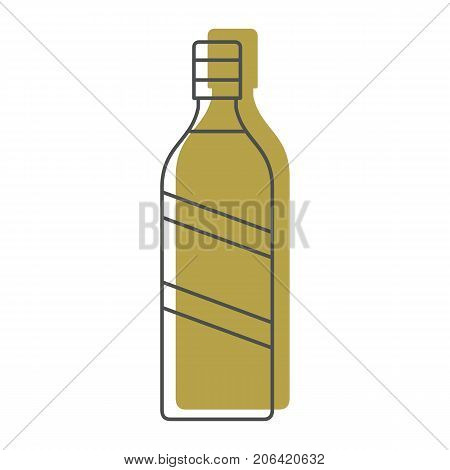 Bottle alcohol vermouth in line with color silhouette style icons vector illustration for design and web isolated on white background. Bottle alcohol vermouth vector object for labels and logo