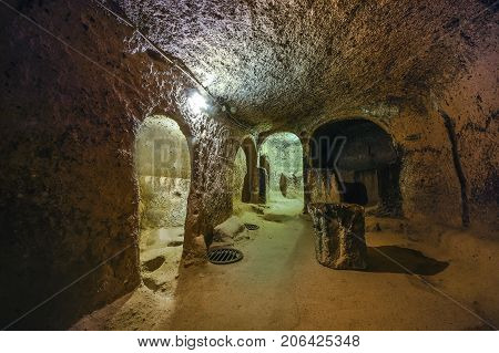 Kaymakli Underground City Is Contained Within The Citadel Of Kaymakli In The Central Anatolia Region
