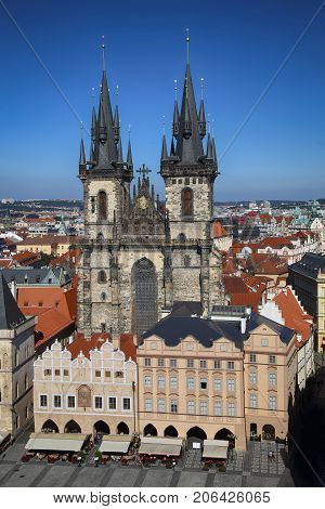 Church of our Lady Tyn in Prague Czech Republic