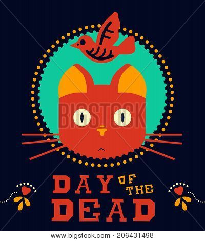 Day Of The Dead Funny Animal Vintage Holiday Art