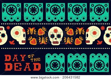 Day Of The Dead Modern Skull Pattern Decoration