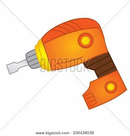 Vector drill. Vector electric instrument. Drill vector illustration