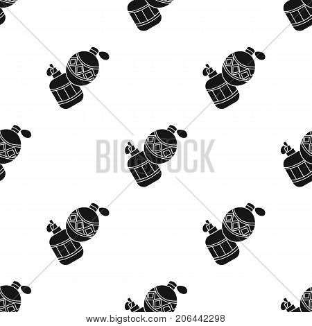 Paintball hand grenade icon in black design isolated on white background. Paintball symbol stock vector illustration.