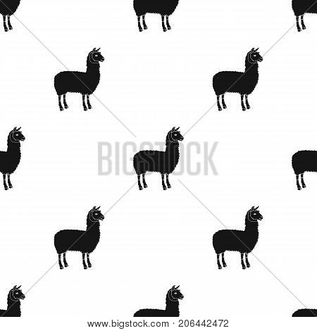 Lama, a South American pack animal. A lame, a cloven-hoofed mammal single icon in black style vector symbol stock illustration .