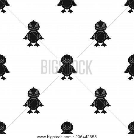 Duckling, single icon in black style.Duckling, vector symbol stock illustration .
