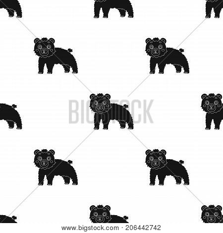 Bear, single icon in black style.Bear, vector symbol stock illustration .