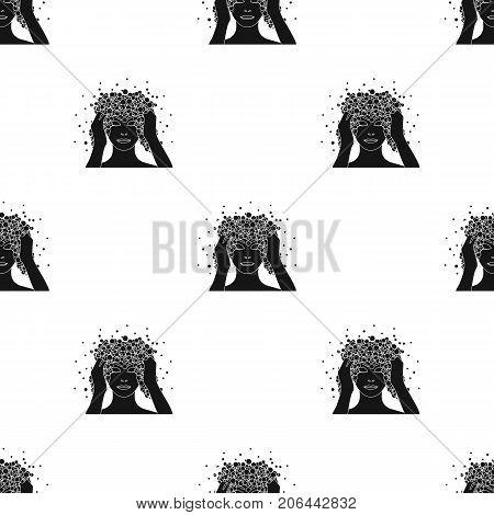 Foam single icon in black style. Foam vector symbol stock illustration.