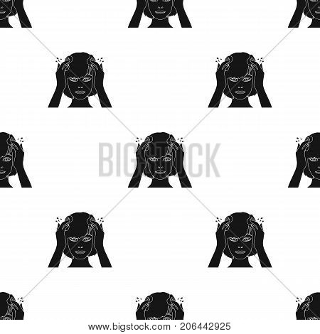 Hairstyle single icon in black style.Hairstyle, vector symbol stock illustration .