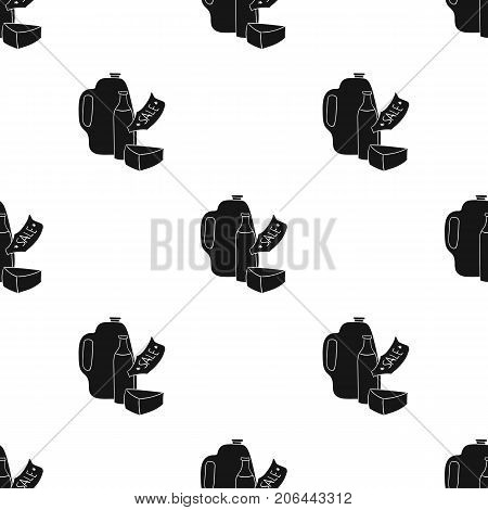 Grocery discount icon in black design isolated on white background. Supermarket symbol stock vector illustration.