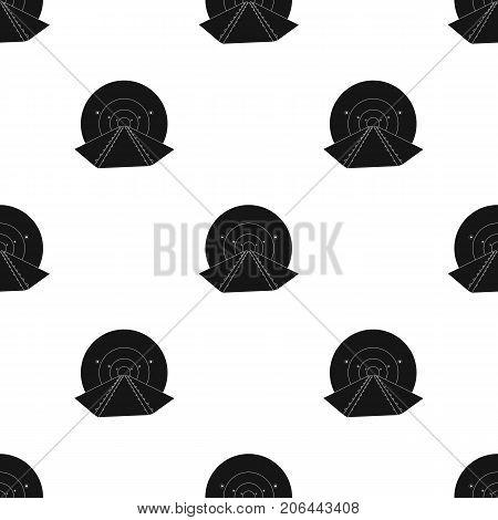 Tunnel, single icon in black style.Tunnel, vector symbol stock illustration .