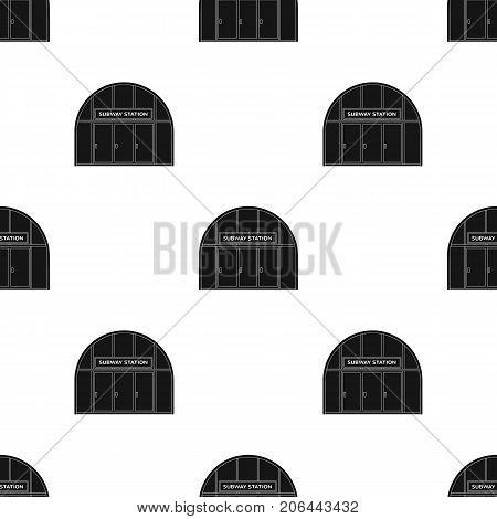 Metropolitan, single icon in black style.Metropolitan vector symbol stock illustration .