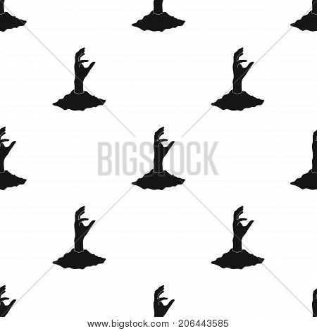 Hand, single icon in black style.Hand, vector symbol stock illustration .