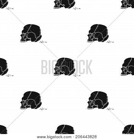 Skull single icon in black style.Skull, vector symbol stock illustration .