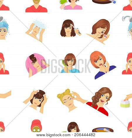 Salon, cosmetic, hairdresser and other  icon in cartoon style. Attire, cosmetology, hygiene, icons in set collection.