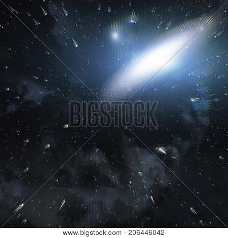 galaxy in space , abstract background