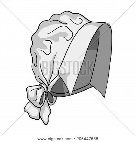 Headpiece, single icon in monochrome style.Headpiece, vector symbol stock illustration .
