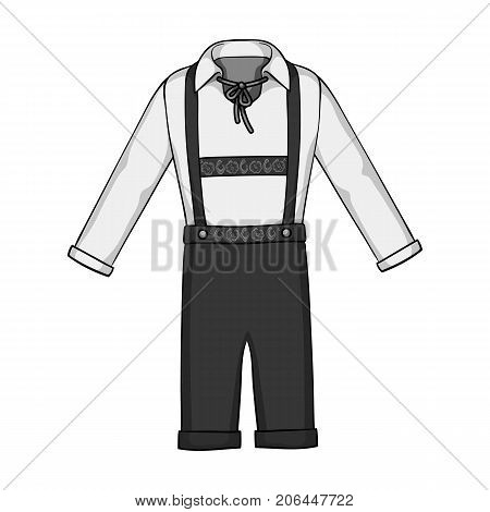 Suit single icon in monochrome style.Suit, vector symbol stock illustration .