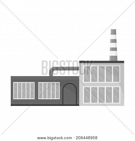 Factory, single icon in monochrome style.Factory, vector symbol stock illustration .