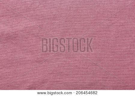 Pink burlap background and texture The texture of the burlap closeup