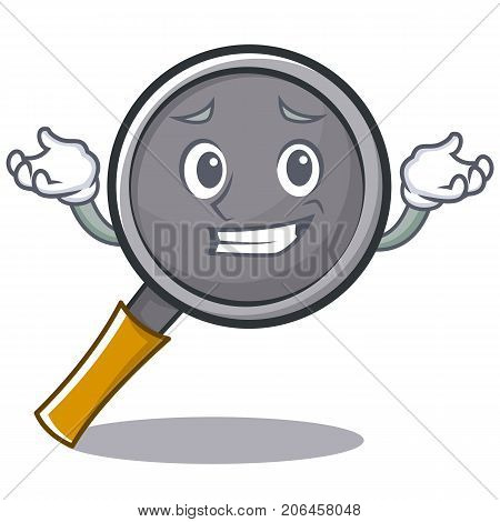 Grinning frying pan cartoon character vector illustration