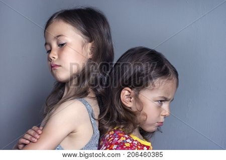 A quarrel between two children. Family Psychology: Childish Jealousy