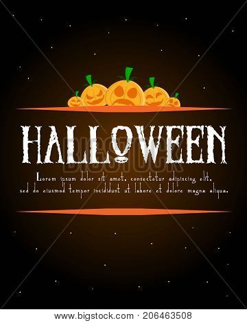 Halloween poster design collection stock vector illustration