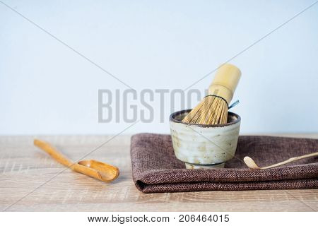 Japanese Tea Caddy And Whisk For Tea Ceremony