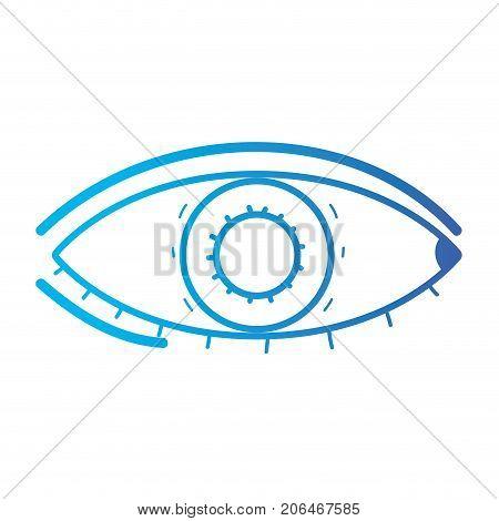 line heathy eye vision and optical care vector illustation