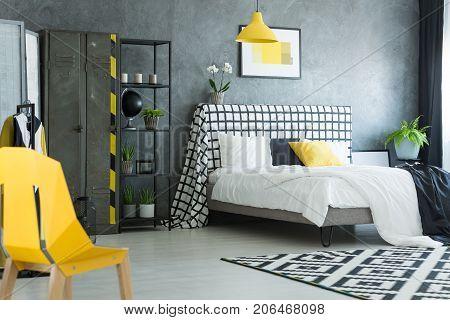 Yellow Designer Chair In Bedroom