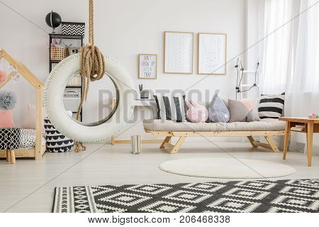 Striped Pillows And Plush Toys
