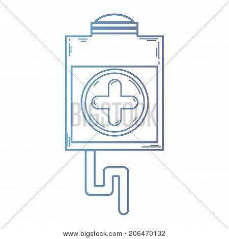 line blood donation syringe with tranfusion tools vector illustration