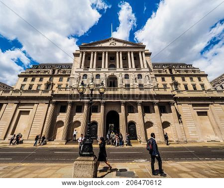 Bank Of England In London, Hdr