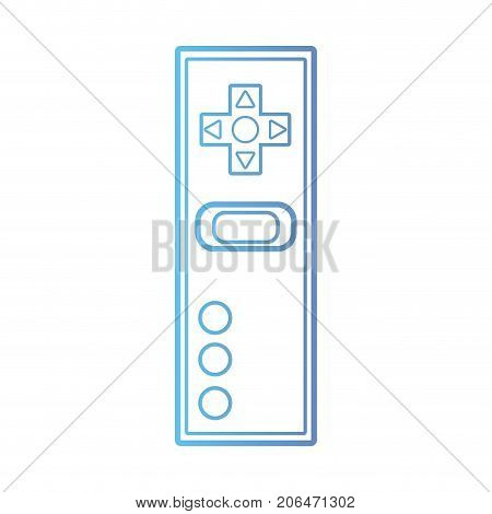 line videogame controller electronic technology vector illustration